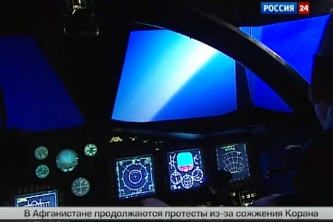 Vesti.Ru / Air Squadron. Special report. (Su-34 simulator developed in CSTS Dinamika)